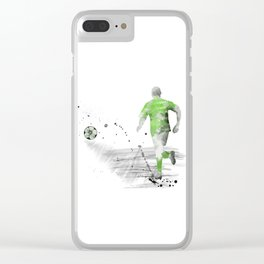 Soccer Player 5 Clear iPhone Case