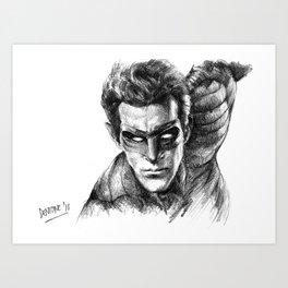 SuperHero Comics Drawing Art Art Print