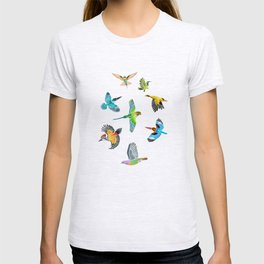 Colourful birds of Singapore T-shirt