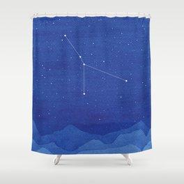 Cancer Constellation, mountains Shower Curtain