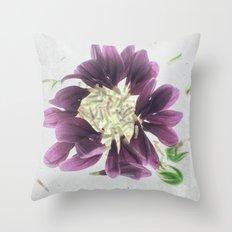 Purples Botanical Blueprints Throw Pillow