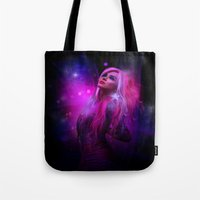 hologram Tote Bags featuring Jem and the Hologram by Claudia Digital Graphics