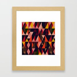 Vintage vibes_in warm hues Framed Art Print