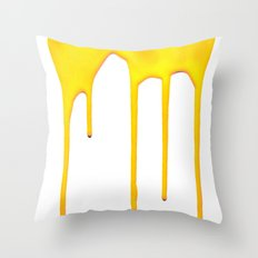 Yellow Splatter Throw Pillow