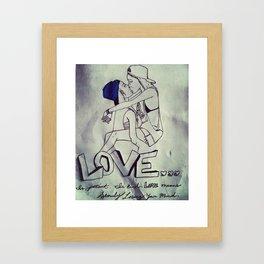 Love Freely Framed Art Print
