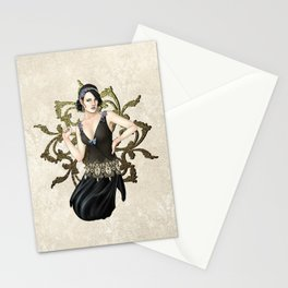 1920s Jazz Siren Stationery Cards