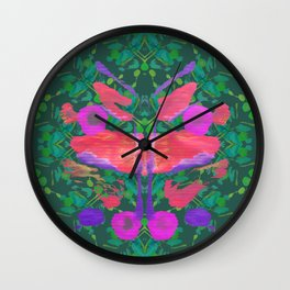 Butterfly Bob Wall Clock
