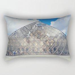 glass pyramid Rectangular Pillow