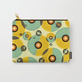 Turntables (Yellow) Carry-All Pouch