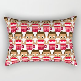 Super cute sports stars - Red and White Aussie Footy Rectangular Pillow