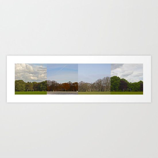 Goal in a year Art Print