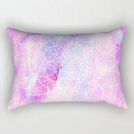 Modern hand painted pink lilac watercolor mandala pattern Rectangular Pillow