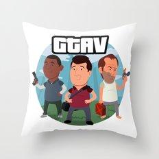 Grand Theft Auto V Cartoon Throw Pillow