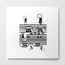 Stupid Cats 1 Metal Print