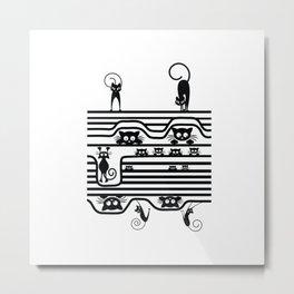 Stupid Cats 1 Metal Print