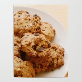 Chocolate chip and pecan cookies Poster