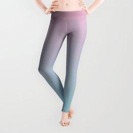 Tie Dye Pink and Blue Leggings