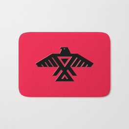 Thunderbird flag - Black on Red variation Bath Mat