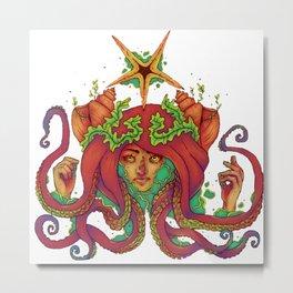 Sorcerer of the Sea Metal Print