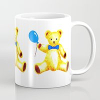 teddy bear Mugs featuring Teddy Bear by Artisimo