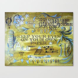 Keep Your Eyes Canvas Print