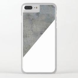 Concrete Vs White Clear iPhone Case