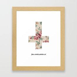 Flower Cross Framed Art Print