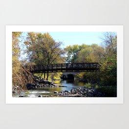 Bridge Over Calm River Photo Art Print