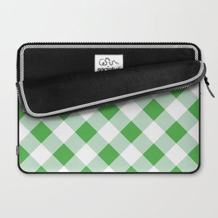 Gingham - Green Laptop Sleeve
