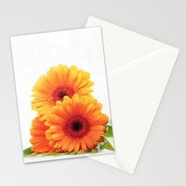 Three Orange flowers bouqete Stationery Cards
