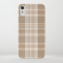 Plaid Prints, Brown and Beige iPhone Case
