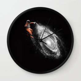 Space Paint Wall Clock