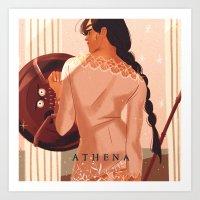 Greek Mythology Athena Art Print