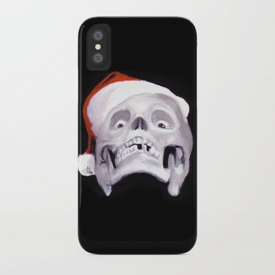 Black XMas. Bastard Son Of Santa iPhone Case