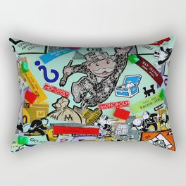 Vintage Monopoly Game Memories Rectangular Pillow