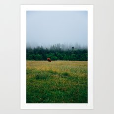 Morning Graze Art Print