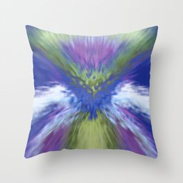 At The Speed of Blue Throw Pillow