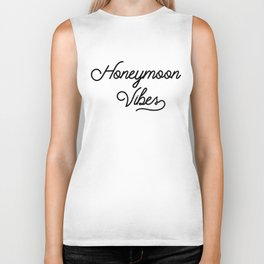 Honeymoon Vibes Newlywed Design Biker Tank