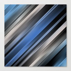 Abstract Blue Stripes Canvas Print