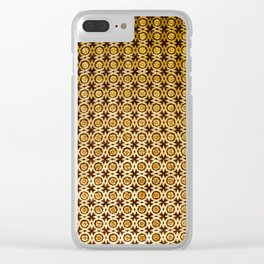Gold and wood carving pattern Clear iPhone Case