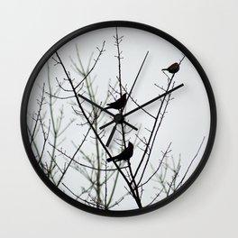 Resting Birds Wall Clock