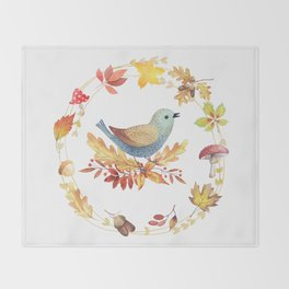 Welcome Back Autumn Throw Blanket
