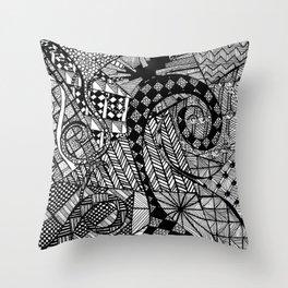 schwarz/weiß Throw Pillow