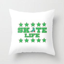 Lovely Gift Ice Skating Tshirt Design Skate life Throw Pillow