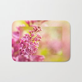 Lilac flowerets bloom bright pink Bath Mat