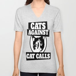 Cats against catcalls Unisex V-Neck