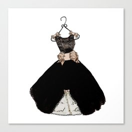 My favorite black dress Canvas Print