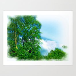 Air Brushed Skyscape Art Print