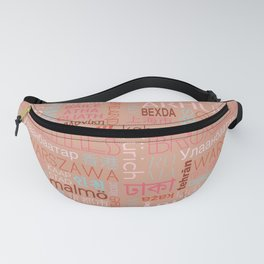 Text and the City Multi Retro + Buff Fanny Pack