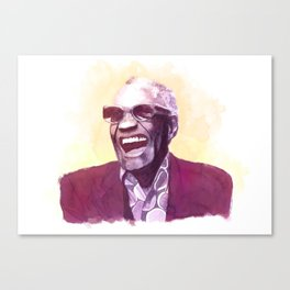 Ray Charles portrait Canvas Print